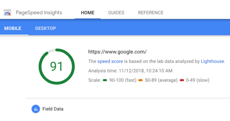 website speed from-google page speed insights