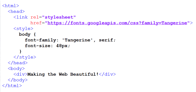 add google font to your website header tag