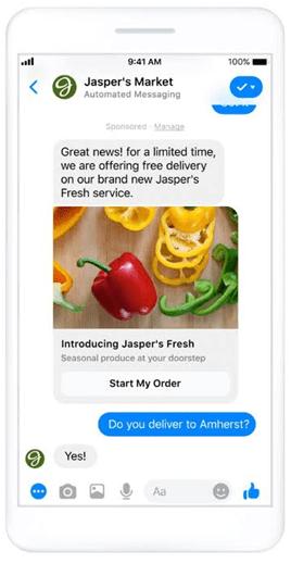 Messenger ads